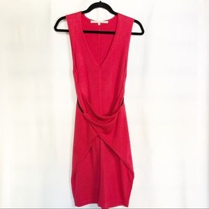 Rachel Rachel Roy Pink Sleeveless Knit Wrap Dress